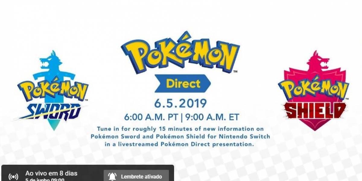 'Nintendo Direct' de Pokémon Sword e Shield acontece na próxima Semana
