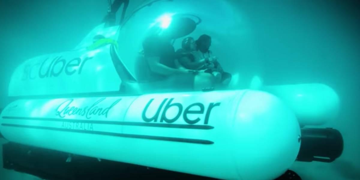 Uber lança submarino e te leva para conhecer a Grande Barreira de Corais na Austrália