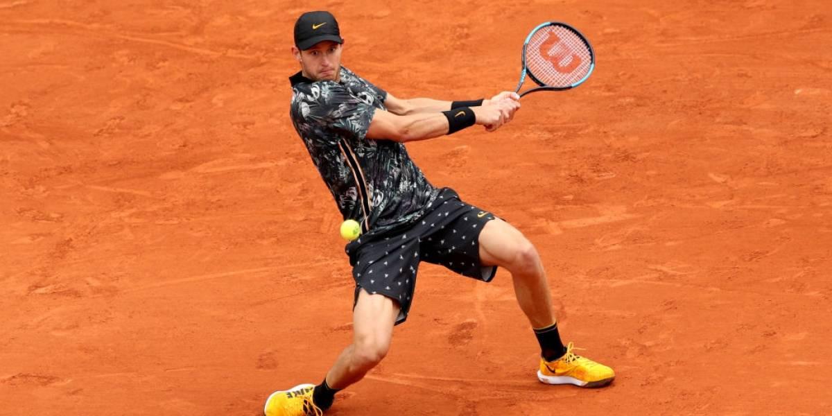 Jarry recibió una lección de solidez y jerarquía antes de ser eliminado por Del Potro en Roland Garros