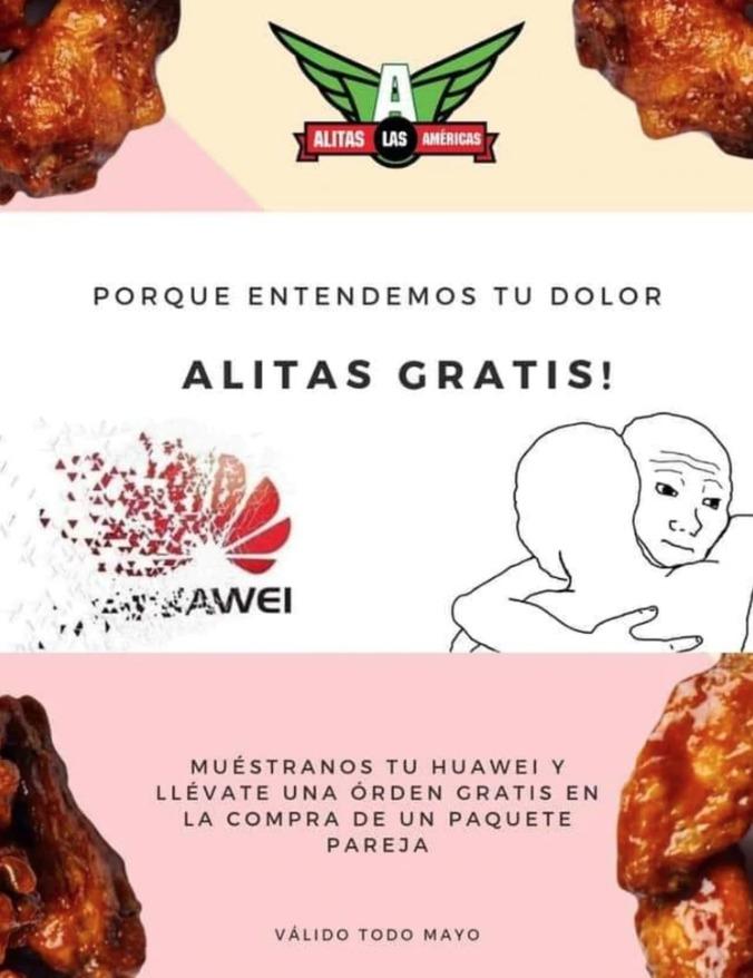 Huawei comida