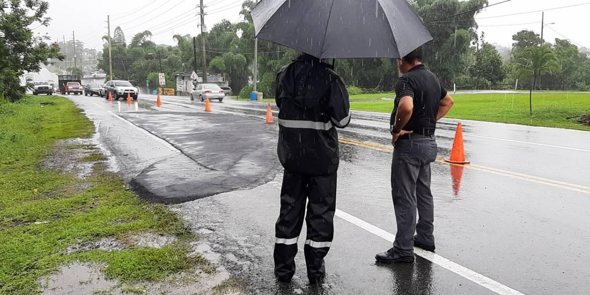 Fuertes lluvias afectan el tránsito en municipios del oeste