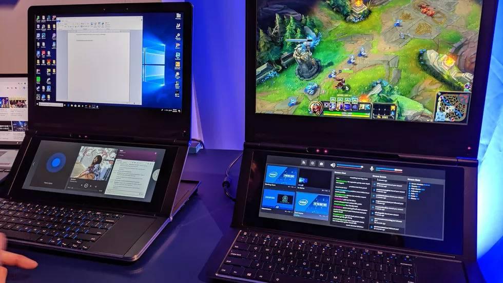 Intel presentó un prototipo de laptop con doble pantalla #Computex2019
