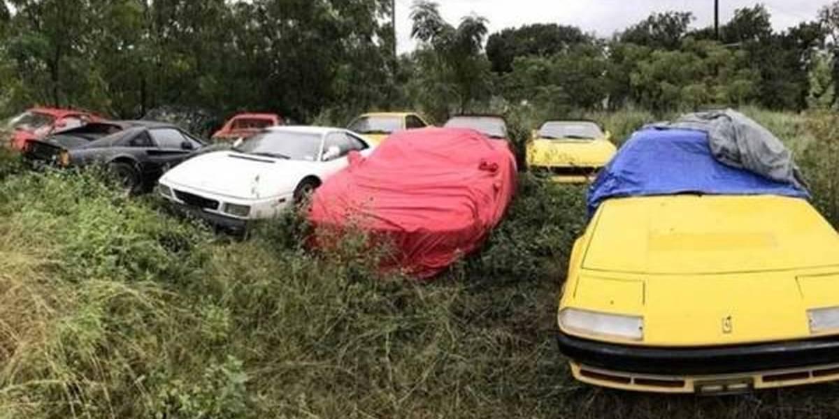 Coleção de Ferraris é encontrada abandonada nos EUA