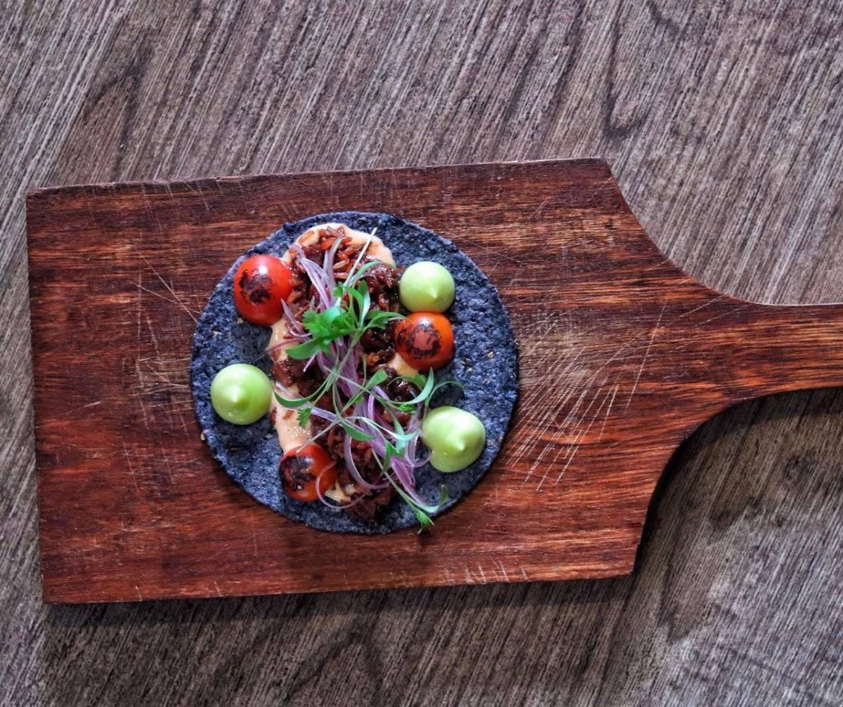 Tortilla de ñame morado. The Jari´s Farm