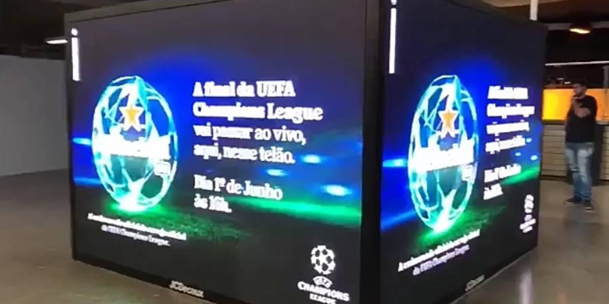 Metrô Paraíso vai exibir final da Champions League em telões gigantes