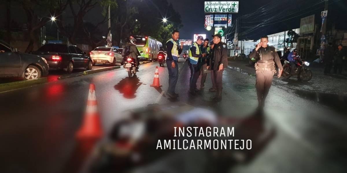 Un muerto y un herido por percance vial en Aguilar Batres, zona 11