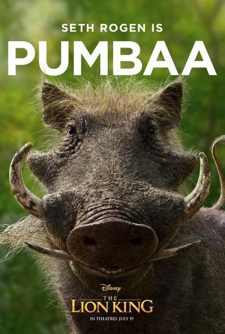 Pumbaa Rei Leão