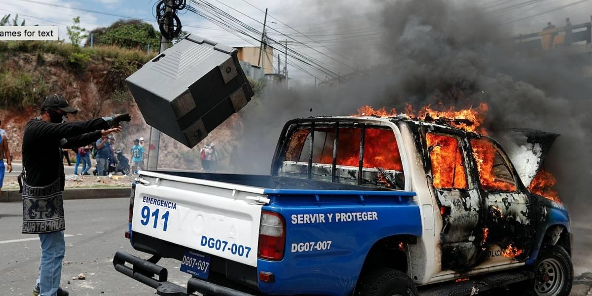 Al menos 25 heridos por disturbios en Honduras