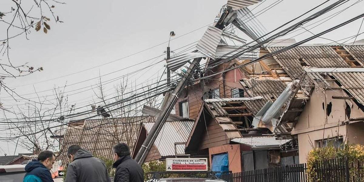 Tornados y trombas marinas en el Biobío: se mantiene alerta amarilla en la región y más de 300 viviendas quedaron con daños