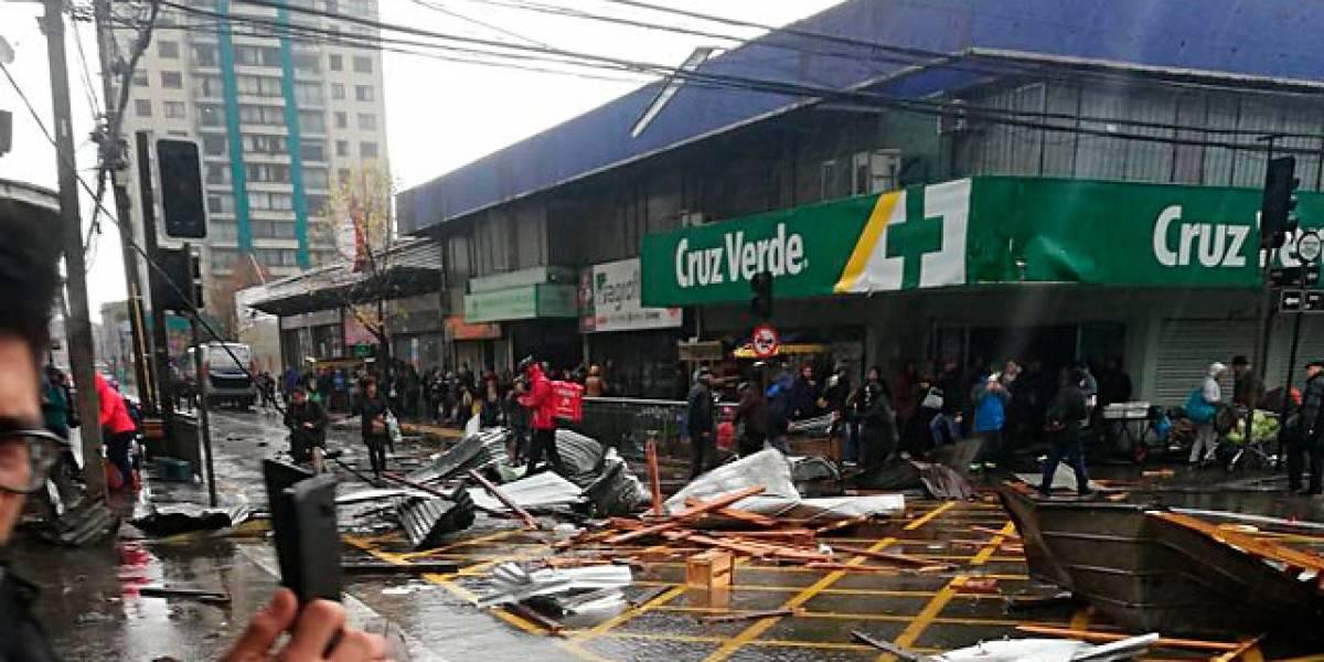 Confirman muerte de mujer por aplastamiento tras tromba marina en Concepción y Talcahuano