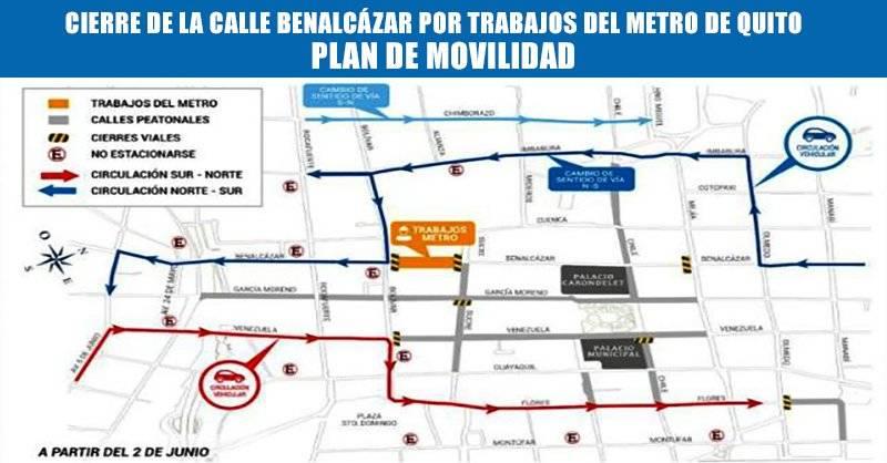 Quito: Se cerrará la calle Benalcázar durante todo el año