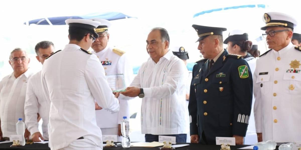 Reconoce Astudillo labor de la Marina en seguridad