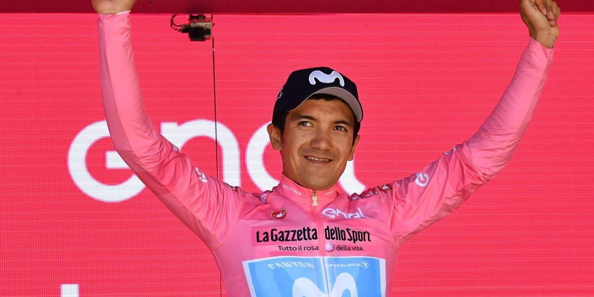 Richard Carapaz agradeció el apoyo de los ecuatorianos presentes en el Giro de Italia