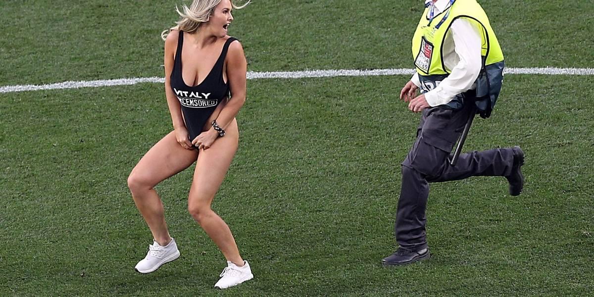 Ella es Kinsey Wolanski, la mujer que saltó a la cancha en la final de la Champions League