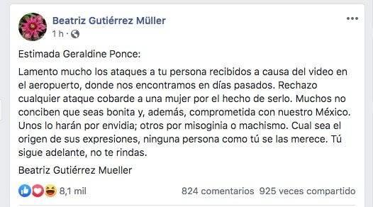 Mensaje de Beatriz Gutiérrez
