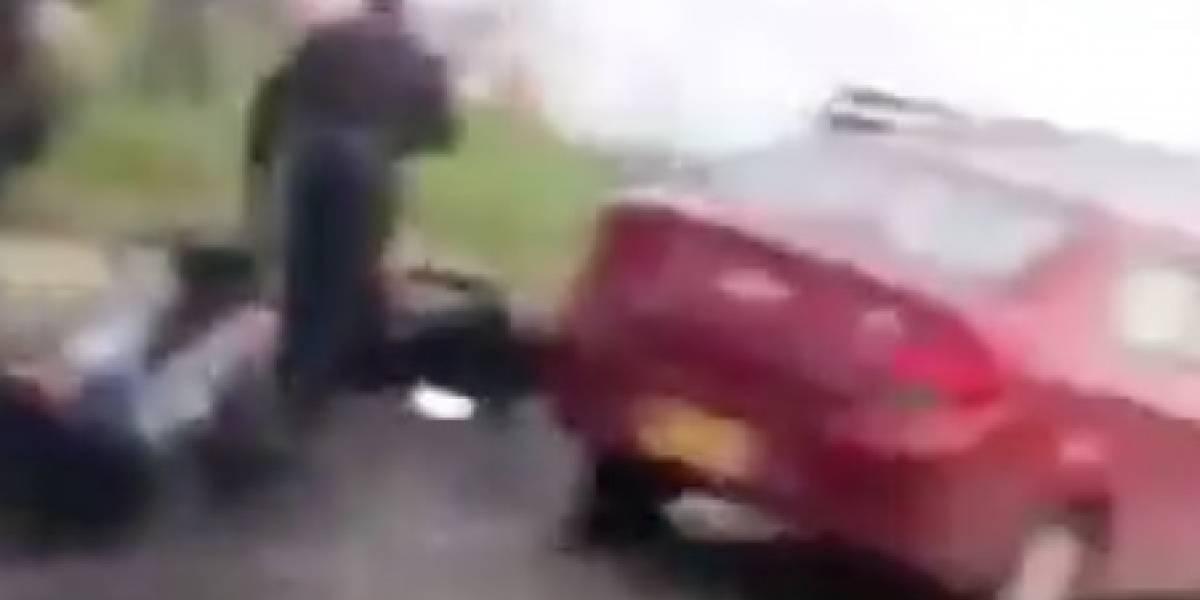 (Video) Juez deja libre a conductor borracho que mató a un motociclista en carretera