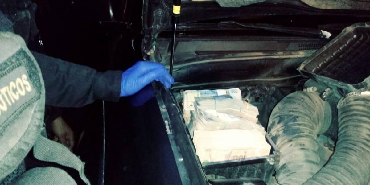 PNC captura en San Marcos a un hombre que trasladaba Q500 mil