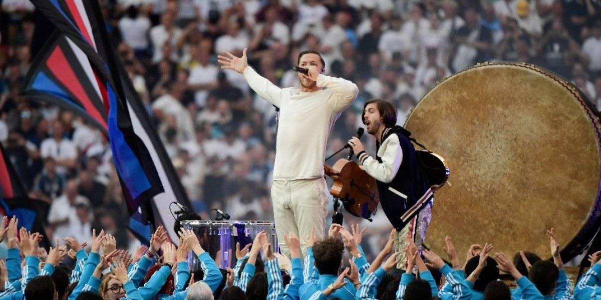 Imagine Dragons sorprende con show en la final de Champions League