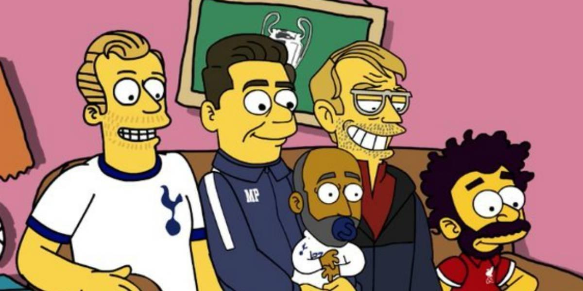 La intro de Champions League al estilo Los Simpson