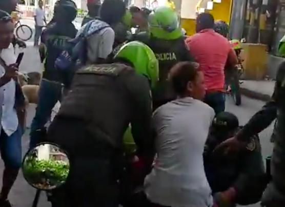 Policía terminó apuñalado en enfrentamiento con hinchas de Millonarios