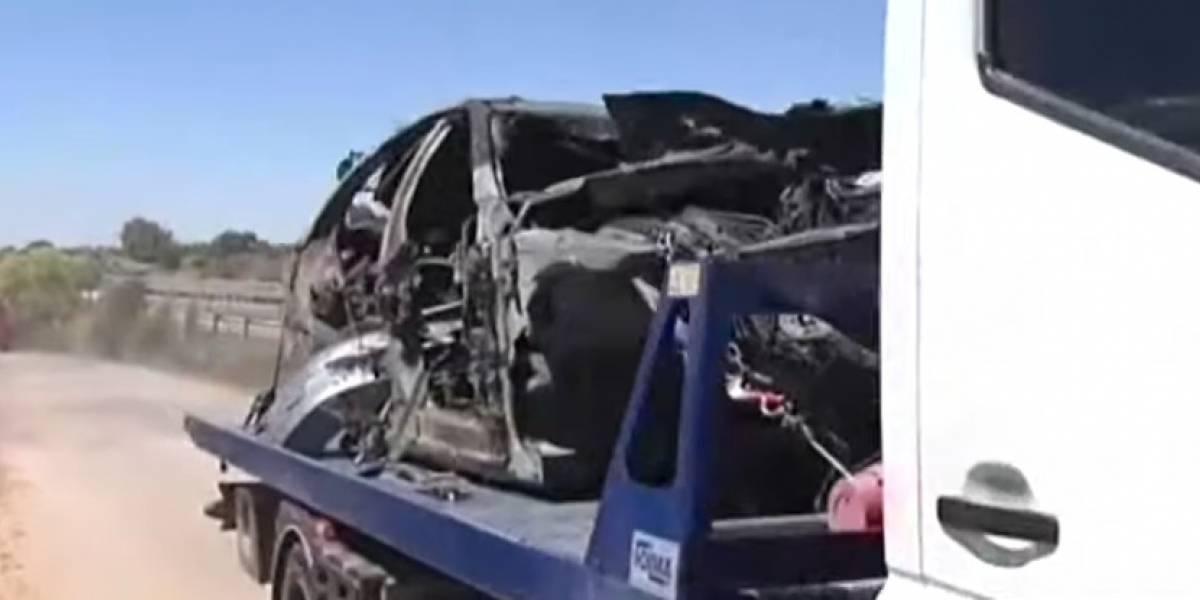 VIDEO: Muestran cómo quedó el auto donde murió 'La Perla' Reyes