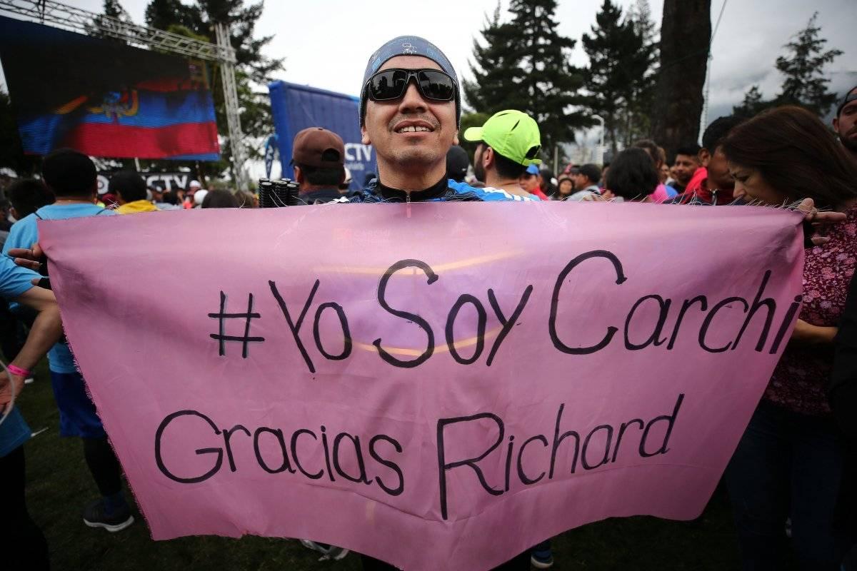 Apoyo a Carapaz en Quito EFE