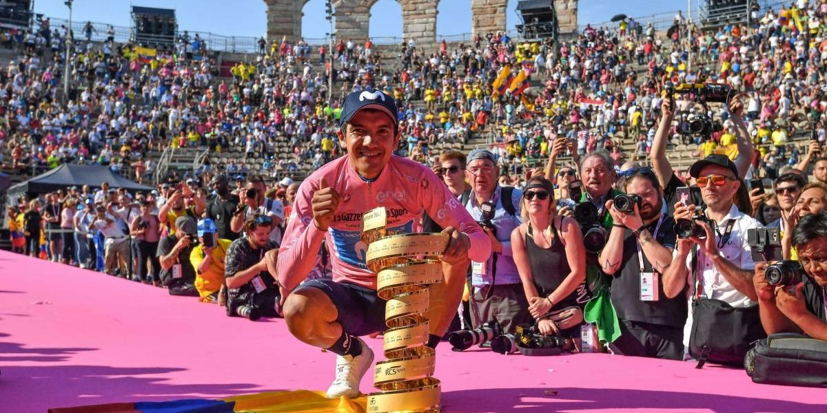 Ecuador está listo para recibir a Richard Carapaz, campeón del Giro de Italia