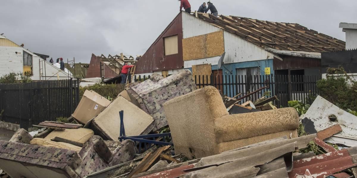 Nuevo balance tras paso de trombas y tornado: alrededor de mil viviendas se vieron afectadas en el sur