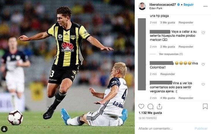 6. Colombianos insultan a jugador de Nueva Zelanda
