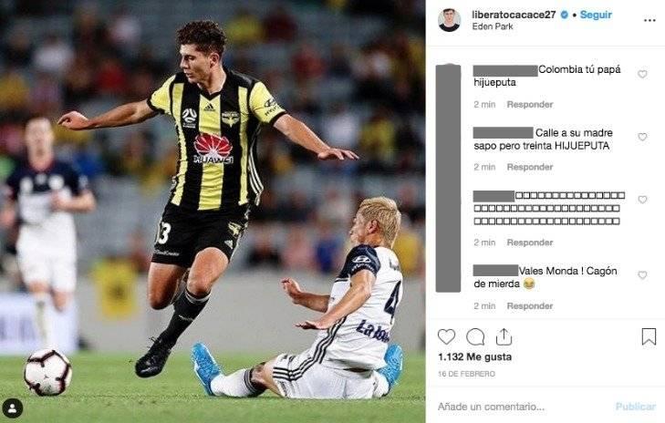 5. Colombianos insultan a jugador de Nueva Zelanda