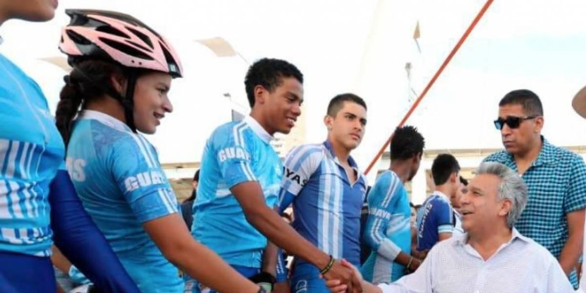 Presidente Lenín Moreno anuncia eliminación de impuestos a la importación de bicicletas de competencia