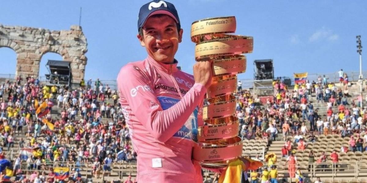Giro de Italia: Richard Carapaz agradeció a sus padres por el apoyo