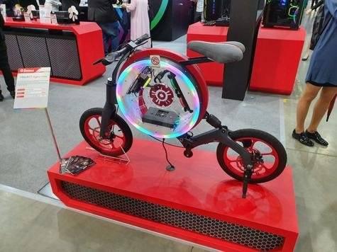 El PC dentro de una bicicleta eléctrica