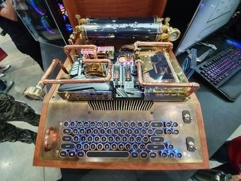 La máquina de escribir Steampunk