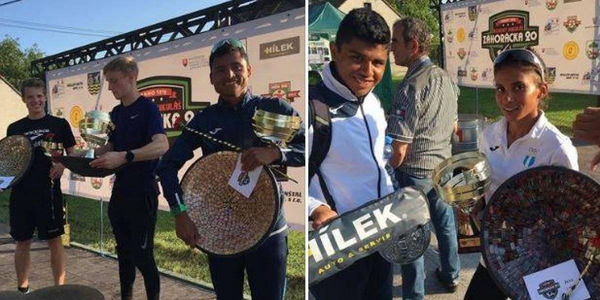 Marcha: Erick Barrondo y Mirna Ortiz ponen en alto el nombre de Guatemala en Eslovaquia