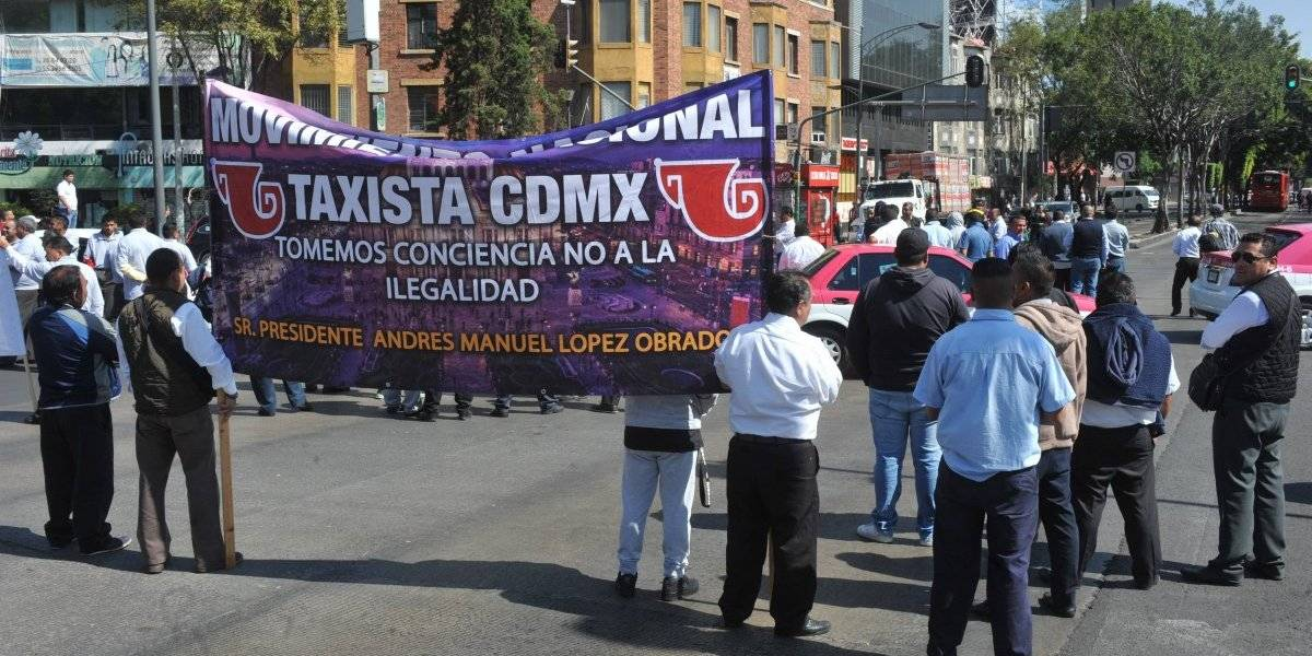 Taxistas cerrarán vialidades de CDMX en protesta por servicio de Apps