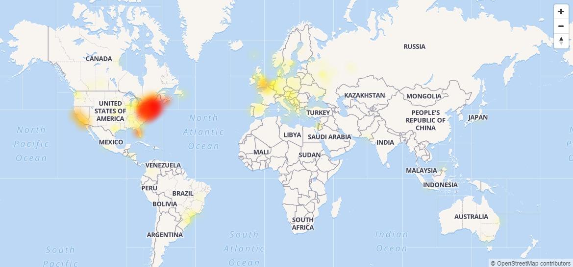 Google está registrando una caída mundial en la mayoría de sus servicios