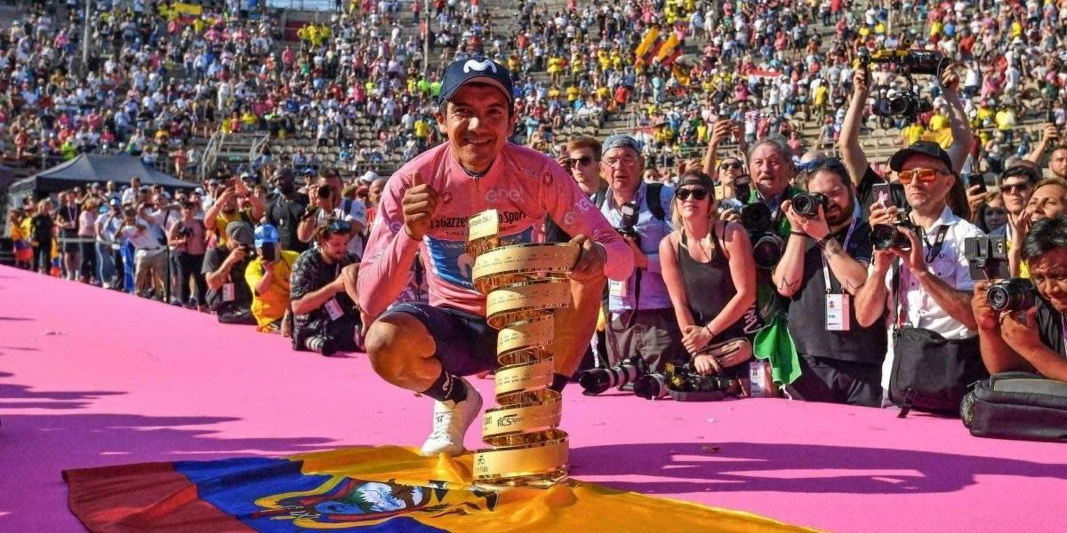 Ecuatoriano Richard Carapaz se corona en el Giro de Italia