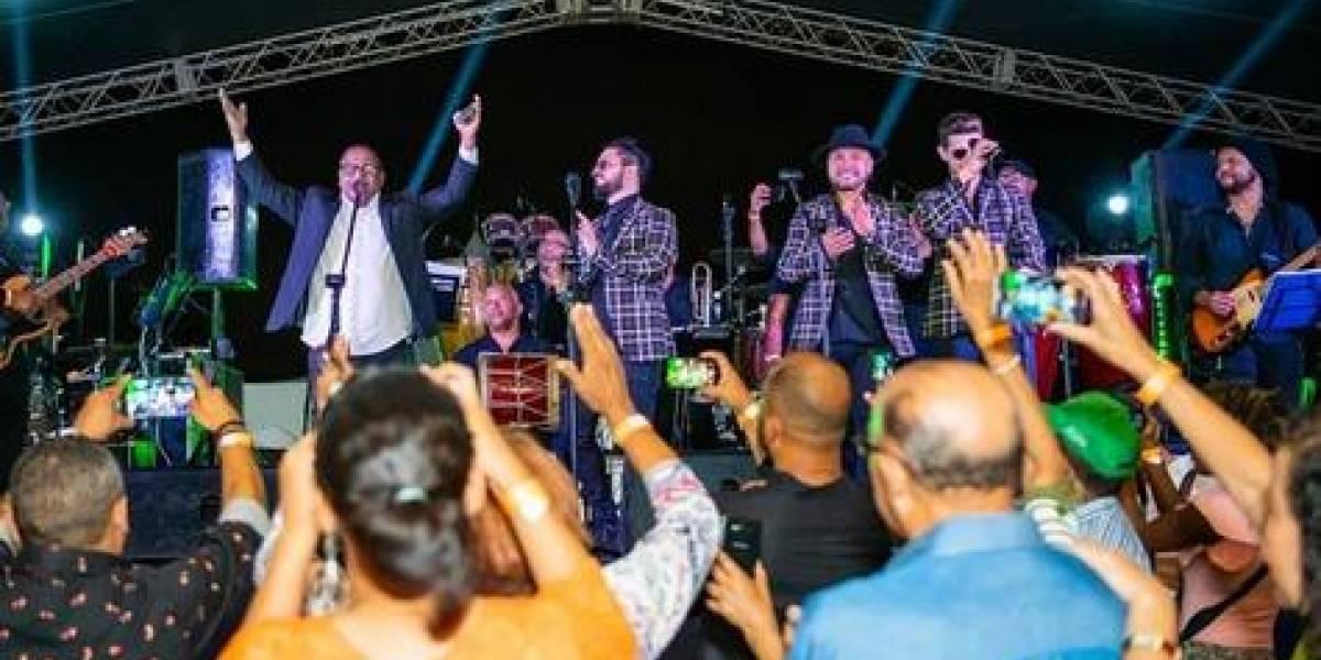 """Wilfrido Vargas y Riccie Oriach animaron """"La fiesta de la libertad"""""""