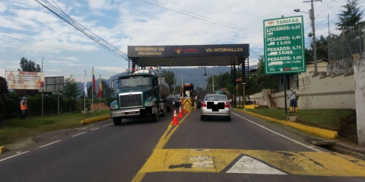 Gobierno de Pichincha amplía suspensión del cobro de peaje en la vía Intervalles