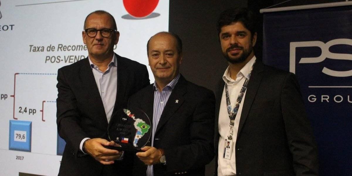Grupo PSA premia la calidad de servicio de la filial chilena