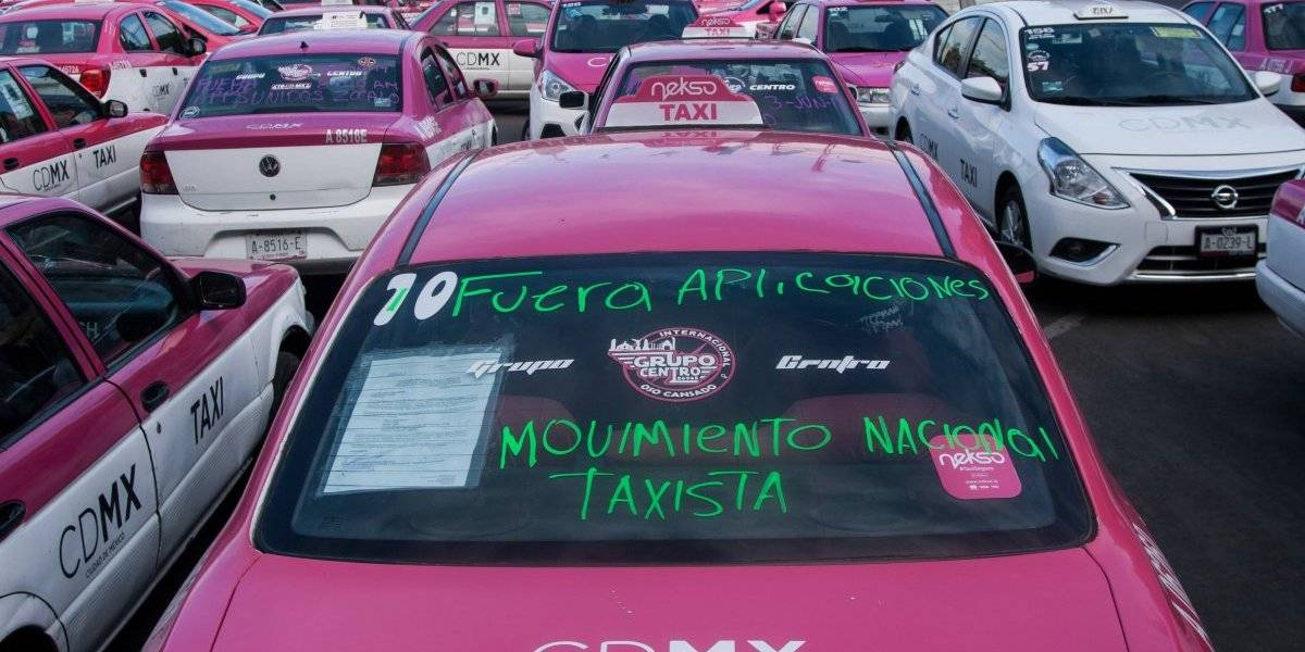 ¿Por qué protestan los taxistas en CDMX?