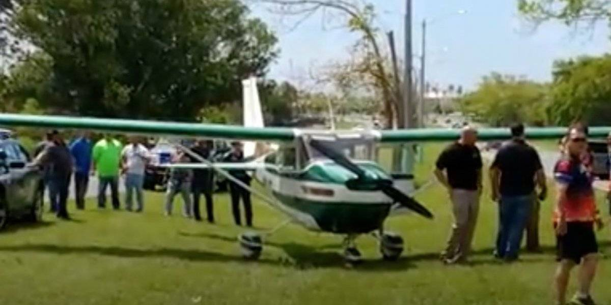 Avioneta aterriza de emergencia en salida hacia Cataño
