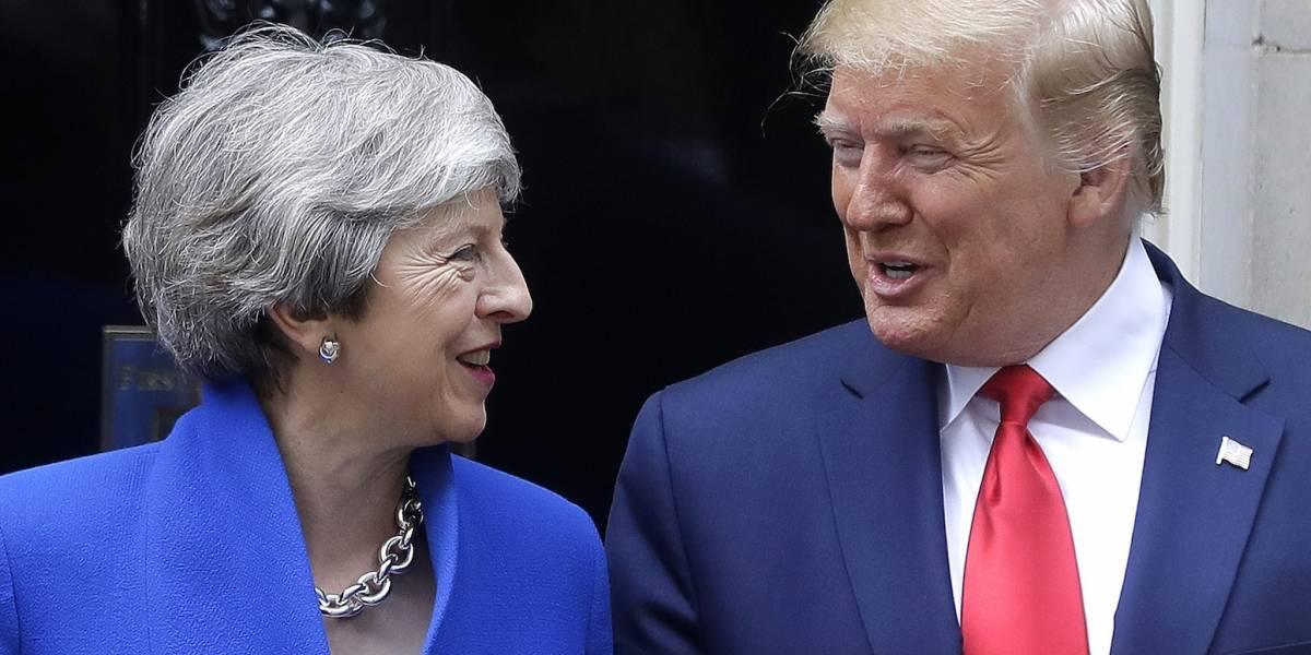 Donald Trump se reúne con la primer ministra de Reino Unido, Theresa May