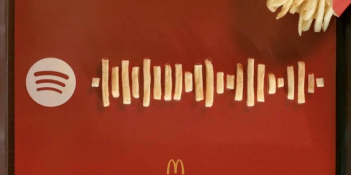 McDonald's y Spotify convertirán tus papas fritas en música