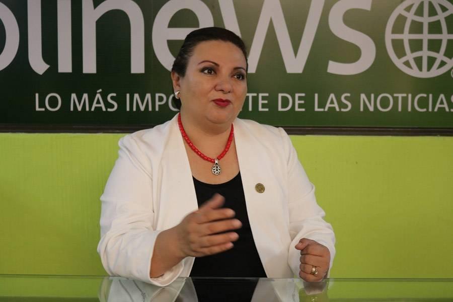 María de los Ángeles Soberanis de Rueda, presidenta del Benemérito Comité Pro Ciegos y Sordos de Guatemala