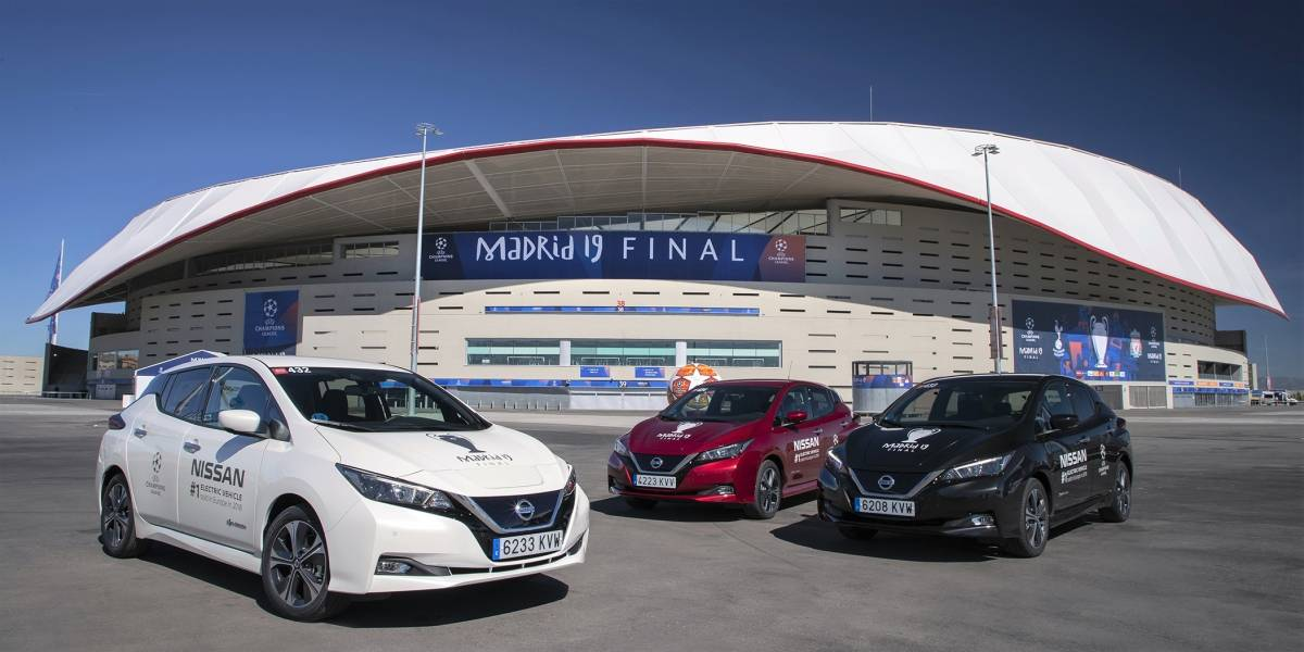 "Nissan LEAF ""movilizó""  la final de la UEFA Champions League 2019"