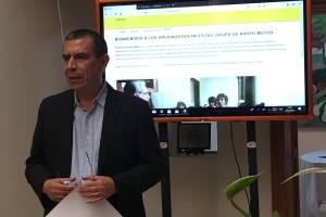 Mario Polanco, director del GAM, en presentación de archivo histórico de esa organización