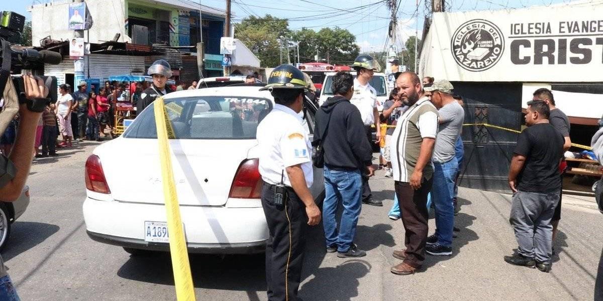 Muere taxista por ataque armado en zona 11 de Mixco