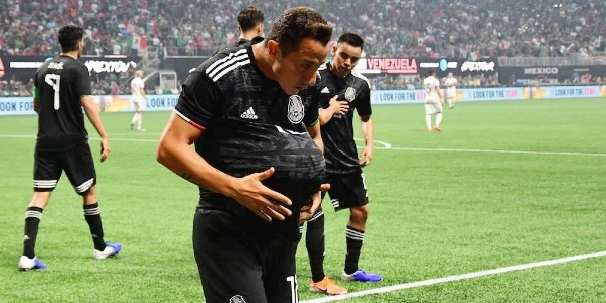 México se impone 3-1 a Venezuela en amistoso